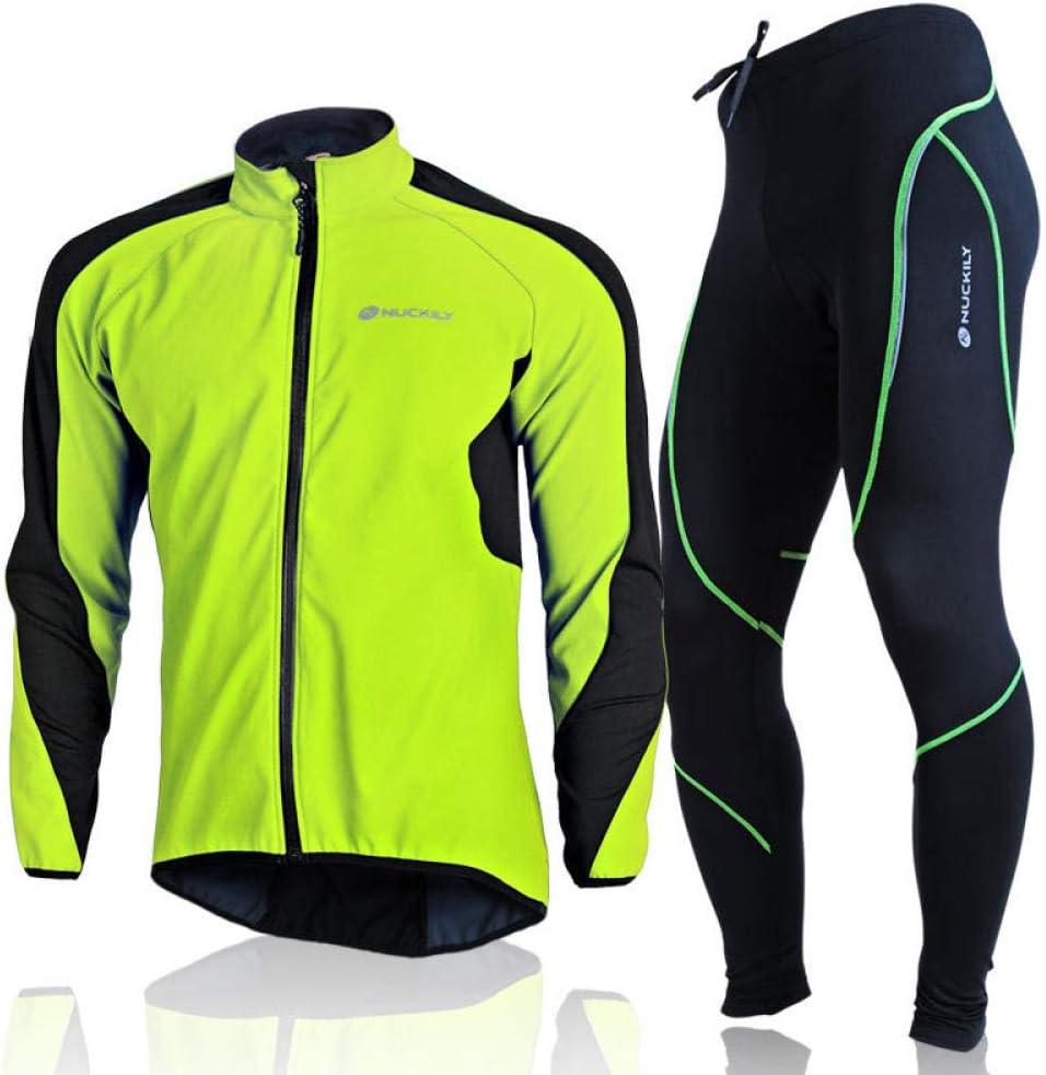LybMjG Schnelltrocknend Fahrradtrikot,Herren Sportswear Winter Warme Langarm-Radjacke Radtrikot Mountainbike-Radsportanzug Hose