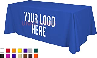 UNIQ SIGNS Personalized Add Your Own Logo Custom Tablecloth 6' RoyalBlue Table Cover - Table Throw