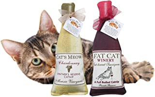 wine bottle catnip toy