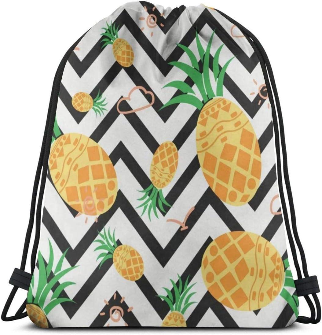 Drawstring Backpack Hawaiian Geometric Latest item Resis Pineapple Bag Spasm price Water