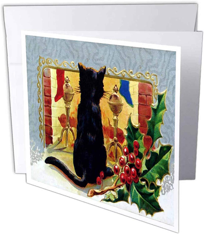 3dRosa gc_9227_2 Grußkarten Merry Christmas Cat 1910 , 15 15 15 x 15 cm, 12 Stück B07B45DXGP | Attraktives Aussehen  | Marke  | Bekannt für seine hervorragende Qualität  33d14c