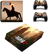 PS4 Pro Console and Controller Skin Set - Red Dead Redemption 2 Gaming Vinyl Skin Cover by Mr Wonderful Skin