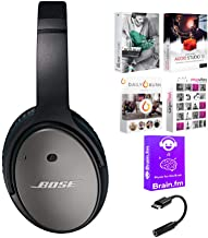 Bose QC25 Noise Cancelling Headphones for Android Devices Bundled with Software Suite & USB-C Adapter (4 Items)