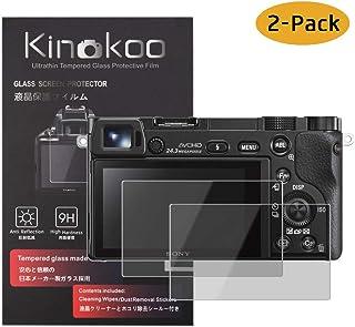 kinokoo Película de Vidrio Templado para Sony A6600/A6100/A6300/A6000/A6400/NEX-7/6/5/3N Crystal Clear Film Protector de Pantalla Sony A6400 sin Burbujas/antiarañazos (Paquete de 2).