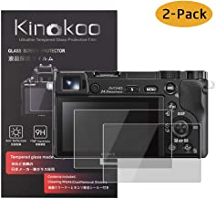 kinokoo Tempered Glass Film for SONY A6600 A6100 A6300 A6000 A6400 NEX-7 6 5 3N Crystal Clear Film Sony  6400  6300  6100 Screen Protector Bubble-free Anti-scratch 2 pack