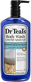 Dr. Teal's Body Wash with Pure Epsom Salt, Detoxify and Energize, 24 Fl.oz