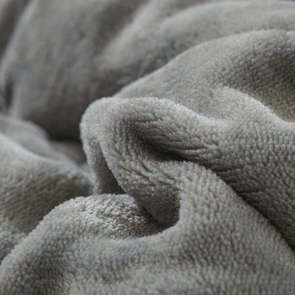 couverture WYDONG Polaire, Draps, Couette Flanelle d'hiver, Nap, Double Épais, Doux Et Confortable, Maison, Chambre, 180 × 200cm (Color : Gray) Gray