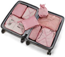 Travel Packing Cubes 8 Pcs Set, Luggage Packing Organizers with Shoe Bag and Toiletry Bag