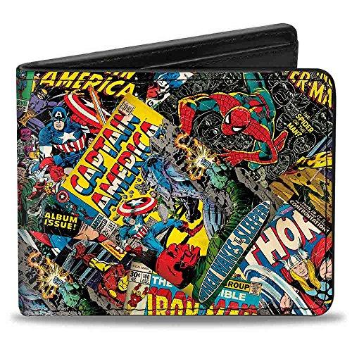 Buckle-Down mens Marvel Comics Hinged - Retro Marvel Comic...