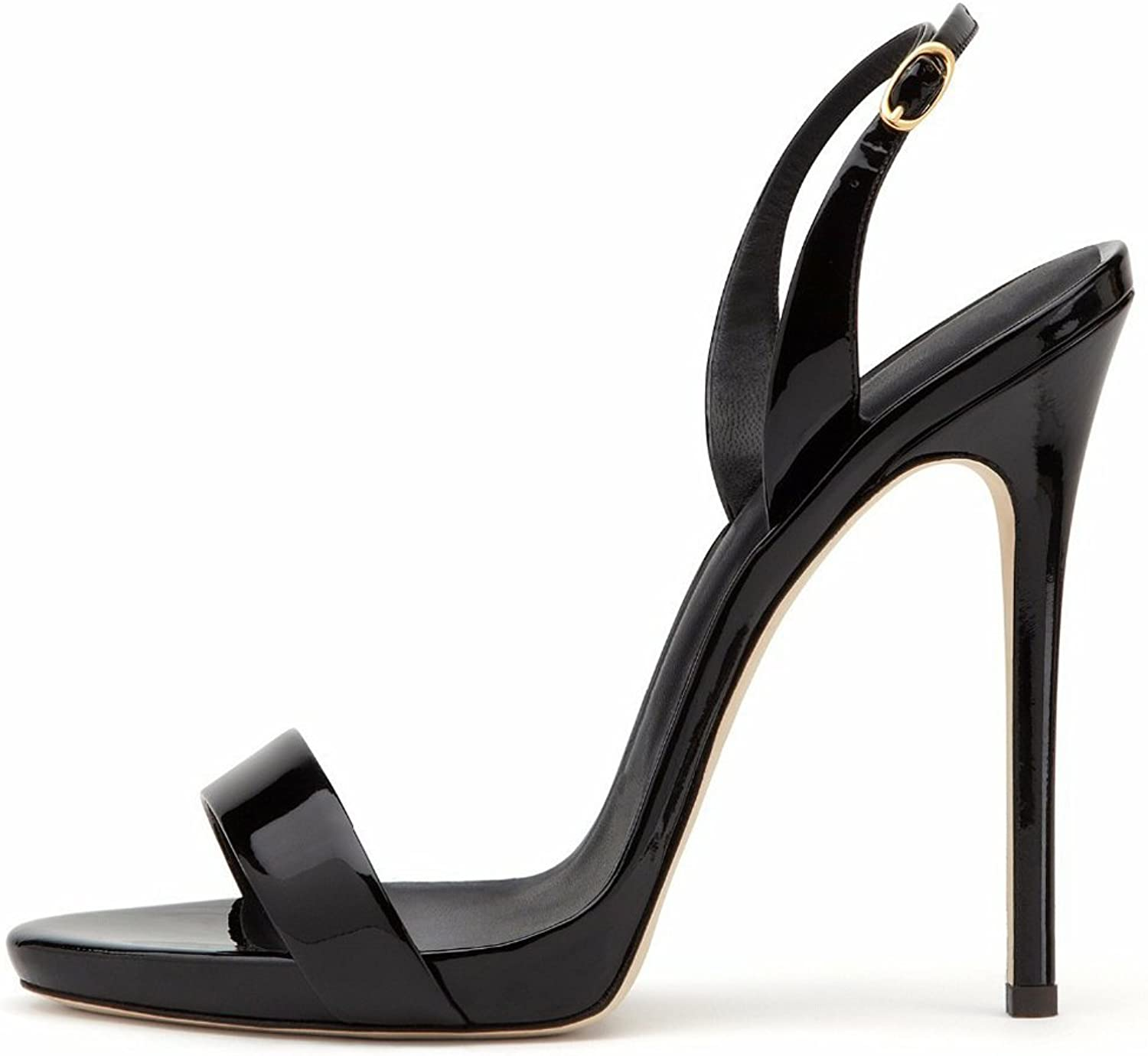 DoraTasia Sexy Ultra High Thin Heels Open Toe Back Buckle Strap Women Fashion Sandals