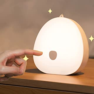 Kids Night light, Rechargeable Baby Nursery Lamp with Color Changing Touch Senor, Brightness Adjustable, Dimmable Eye Cari...