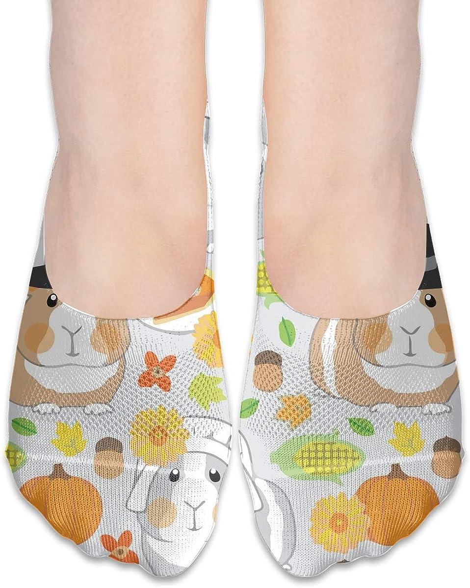 No Show Socks Women Men For Thanksgiving Guinea Pigs Flats Cotton Ultra Low Cut Liner Socks Non Slip