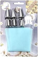 Manga pastelera de silicona para crema, glaseado y pasteles con juego de 1 adaptador de boquilla y 6 boquillas de acero inoxidable