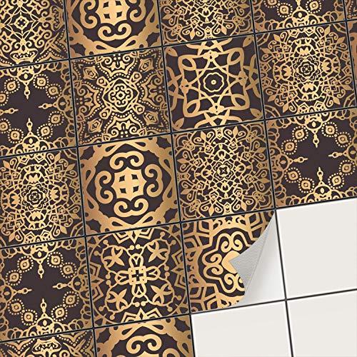 creatisto Fliesenfolie Fliesenaufkleber Mosaikfliesen - Klebefolie Aufkleber für Wand-Fliesen I Stickerfliesen - Mosaikfliesen für Küche, Bad, WC Bordüre (10x10 cm I 27 -Teilig)