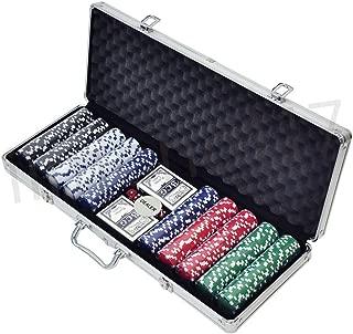 iimono117 ポーカーセット チップ500枚 アルミケース鍵付き / ポーカーチップ トランプ付き カジノゲーム フルセット 本格派