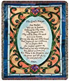 Manual Inspirational Collection 50 x 60-Inch Tapestry Throw, The Lords Prayer