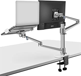 viozon Monitor and Laptop Mount, 2-in-1 Adjustable Dual Monitor Arm Desk Mounts,Single Desk Arm Stand/Holder for 17 to 32 ...