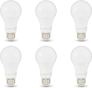 AmazonBasics 100W Equivalent, Soft White, Non-Dimmable, 10,000 Hour Lifetime, A19 LED Light Bulb | 6-Pack