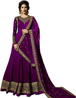 AnK Women's Georgette Long Anarkali Semi Stitched Salwar Suit With Dupatta