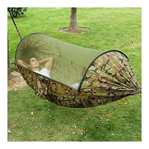 Griselda Max Swing 2020 Moustiquaire pour extérieur à ouverture rapide et étanche et portable Double hamac anti-moustique pour jardin camping, camouflage