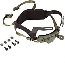 Tbest Adjustable Helmet Liner Kit Head Locking Chin Strap for Outdoor Tactical Helmets with Bolts and Screws(Green)