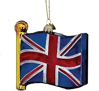 Noble Gems Kurt Adler 4-1/2-Inch Flag of United Kingdom Ornament
