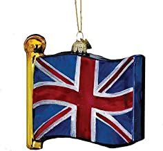 Noble Gems Kurt Adler 4-1/2-Inch Flag of United Kingdom Ornament