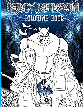 Percy Jackson Coloring Book: Percy Jackson Stress-Relief Coloring Books For Kids And Adults
