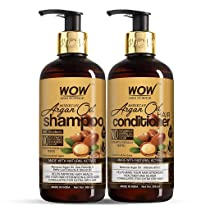 WOW Skin Science Moroccan Argan Oil Hair Care Kit – consist of Shampoo & Conditioner – Net Vol 600mL