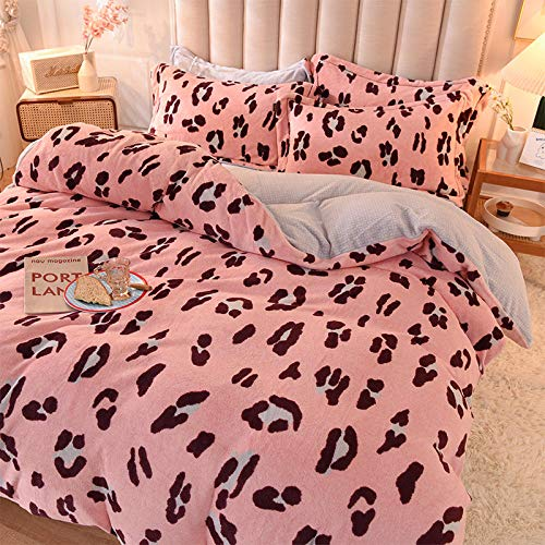 Coral Vaughan King Size Flannel Sheets,Double-Sided Plus Velvet Flannel Sheet Quilt Cover Warm Bedding-Smart_1.5 Sheets 200 * 230-4pcs199