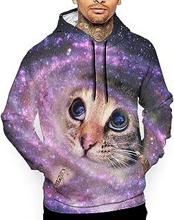 Go KJ Unisex The Space Cat Hoodies Fashion Pullover Hood Jackets Sweatshirt