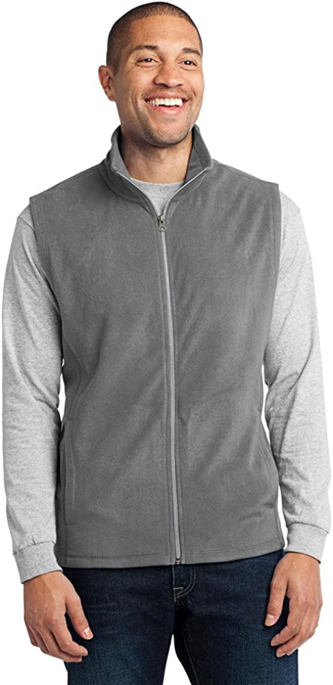 Port Authority Microfleece Vest, Pearl Grey, XXXX-Large