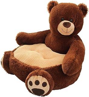 Kids Sofa Chair Toy Seat Baby Nest Sleeping Bed Cushion Stuffed Teddy Bear Doll 50 * 50 * 45cm (Coffee Bear)