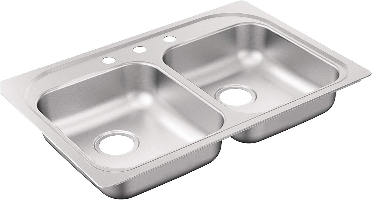 Moen G202153BQ 2000 Series Stainless Satin Max 41% OFF Sink Year-end annual account Brushed