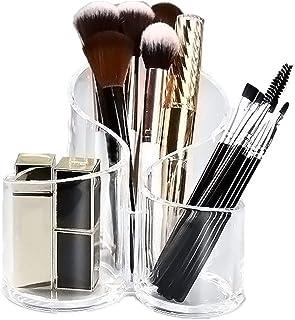 Cosmetische opslag, lippenstifthouder Desktoporganisator, lippenstiftorganisator, boogopslagcontainer met drie sleuven, do...