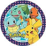 NET TOYS 8 Platos de Fiesta Pokémon - 22,8cm - Linda decoración de Fiesta Platos de cartón Pikachu Monstruo de Bolsillo - Inmejorable para Fiestas Infantiles y cumpleaños Infantiles
