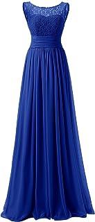 QUZI DRESS Elegant Scoop Neckline Bridesmaid Dresses Long Chiffon Evening Prom Dresses QZ008