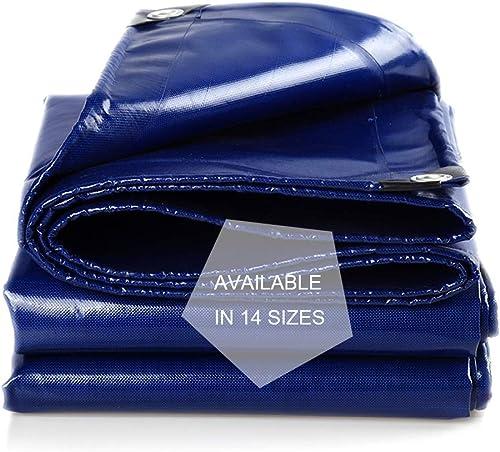 Polyvalent Baches Polyester 18 mil, Prougeège Remorque Remorque Remorque Tente Antichute Résistant aux UV, Imperméable à l'eau, Pourpre, Bleu, Bache Multicouche de Plusieurs Tailles (Taille   5X5m)