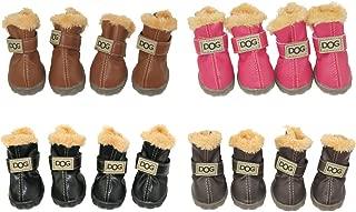 WINSOON Dog Australia Boots Pet Antiskid Shoes Winter Warm Skidproof Sneakers Paw Protectors 4-pcs Set