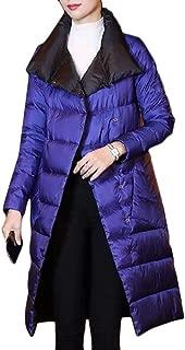 Macondoo Women Fall Winter Puffer Cotton-Padded Outwear Reversible Down Jacket