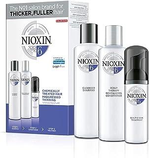 Nioxin Trial Kit de 3 Pasos Sistema 6 - Tratamiento para Cabello Tratado con Químicos muy Debilitado y Pérdida de Densidad...