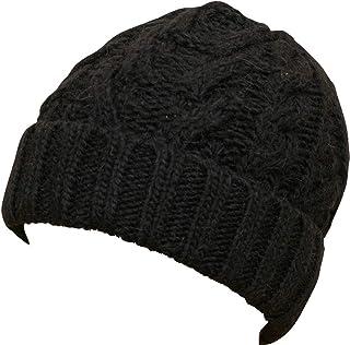 (ラルフローレン) Ralph Lauren アルパカ x ウール アラン編み ニットキャップ ブラック Aran-Knit Hat Black 並行輸入品 [並行輸入品]