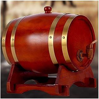 CPSH Tonneau à vin en Bois 10L Tonneau de chêne, Vin de chêne Vintage Distributeur de vin Bière et Stockage de spiritueux,...