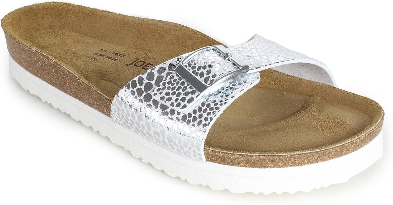JOE N JOYCE Porto SynSoft Soft-Footbed Sandals