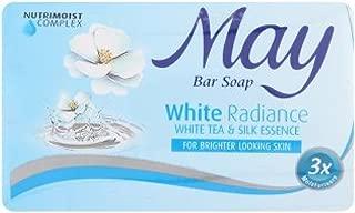 Malaysia May Bar Soap 85g (White Radiance White Tea & Silk Essence, 6 Bar)