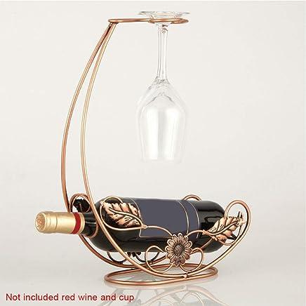 da cucina Portabottiglie di vino in ferro in stile europeo Taglia libera Bronze decorazione da tavolo per la casa