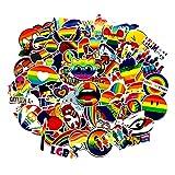 J TOHLO 100 Pack de Pegatinas Graffiti Stickers Calcomanías de Vinilo Impermeables Maleta Pegatinas para Coche, monopatín, portátil, Motocicleta, Parches de Nevera (Arco Iris)