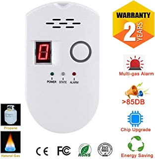 Propane | Natural Digital Gas Detector, Gas Leak Detection, Home Gas Alarm, Plug-in Digital Alarmer, High Sensitivity LPG LNG Coal Natural Gas Leak Detection, Alarm Monitor Sensor for Home | Kitchen