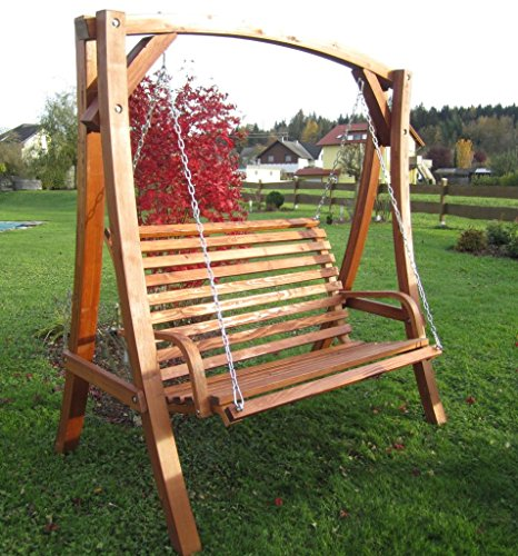 ASS Design Hollywoodschaukel Gartenschaukel Schaukel Holzschaukel Hollywood Swing aus Holz Lärche Modell KUREDO103OD - 5