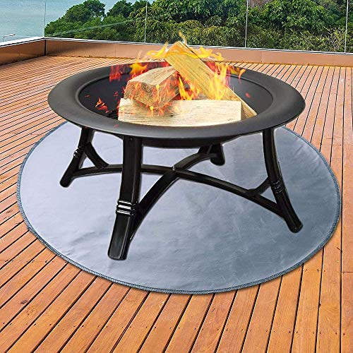 Y DWAYNE Fire Pit Mat Grill Mat,Round Fire Pit Pad for Wood Deck,Lawn Fire Pit Pad,for Wood Burning Fire Pit,Gas Fire Pit,Charcoal Grill,BBQ Smoker